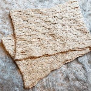 Calvin Klein beige large infinity scarf
